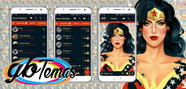 Tema GBWhatsapp - Wonder Woman