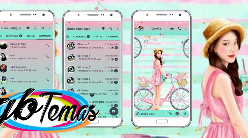 Tema GBWhatsapp - Bike And Girl