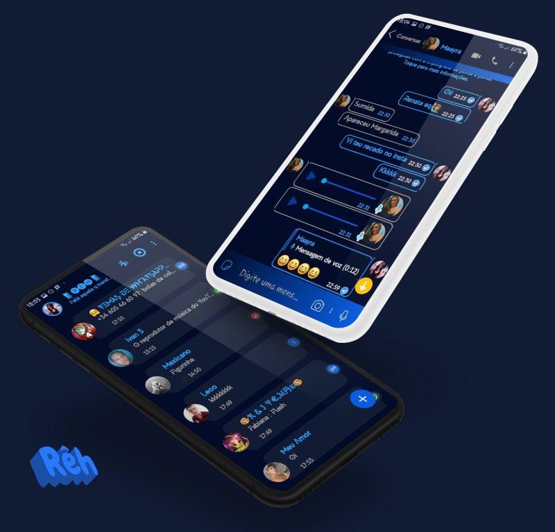 Tema Whatsapp Aero - Navy blue 2