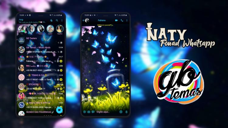 Tema Fouad Whatsapp - Butterflies
