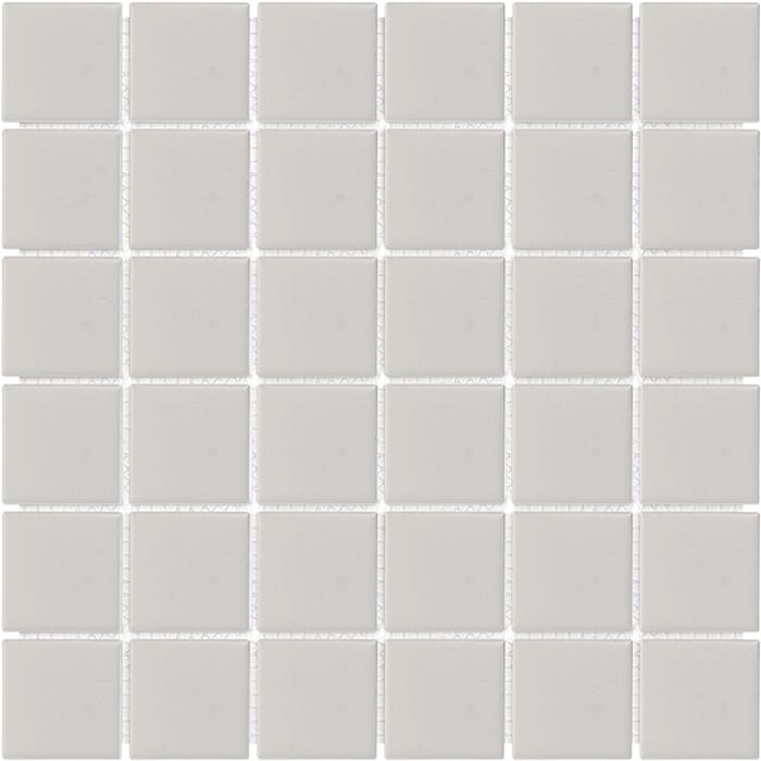 tesoro soho warm grey matte porcelain 2 x 2 mosaic
