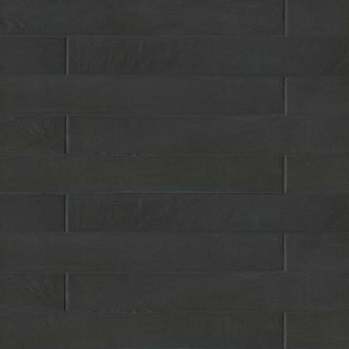 bedrosians allora solid black matte 3 x 24 floor wall tile