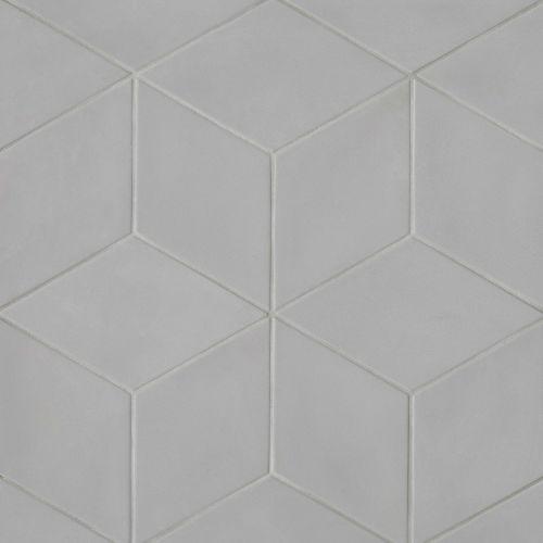 bedrosians allora solid grey matte rhombus floor wall tile