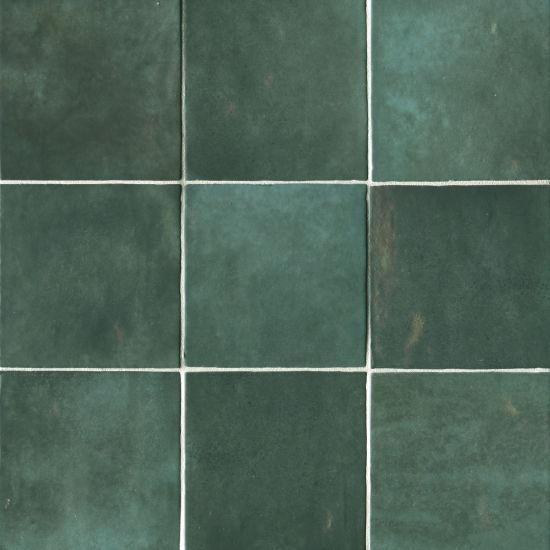 bedrosians cloe green 5 x 5 gloss ceramic wall tile