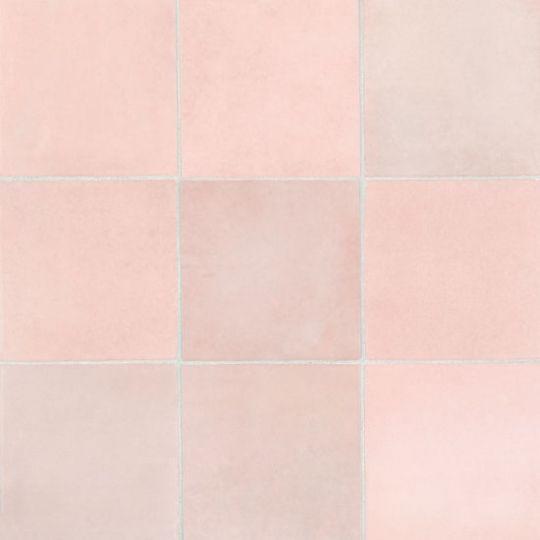 bedrosians cloe pink 5 x 5 gloss ceramic wall tile