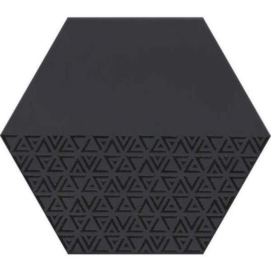 emser rhythm black hex pattern 11 x 13 porcelain tile