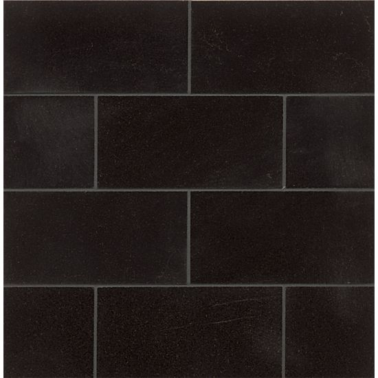 bedrosians absolute black 3 x 6 polished granite tile
