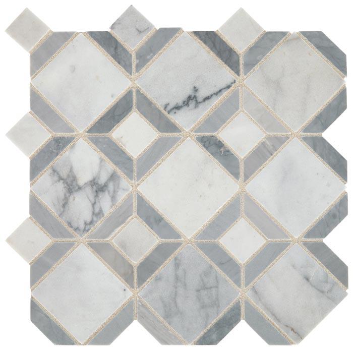 daltile sublimity parquet cirrus storm stone mosaic