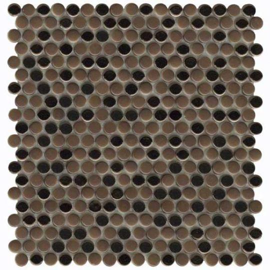 emser confetti ii bronze penny round mosaic