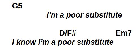 Poor Substitute outro