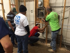 Electrical students at Galveston College