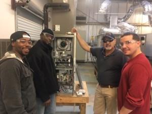 HVAC students at Galveston College