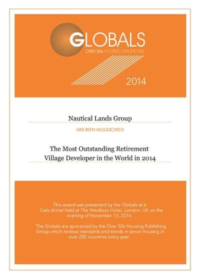 Global Awards Nautical Lands Group 2014