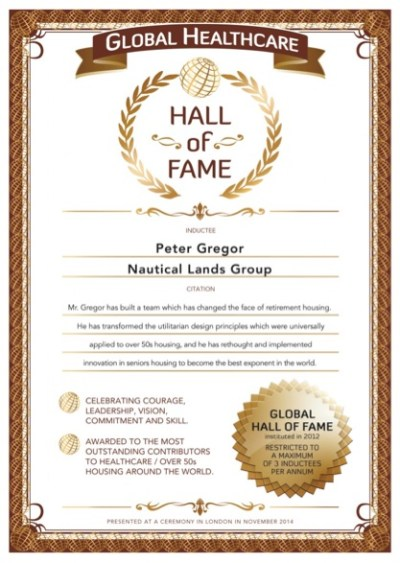 Over 50s Hall-of-Fame Peter Gregor