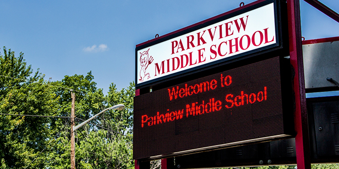 Parkview Middle School sign