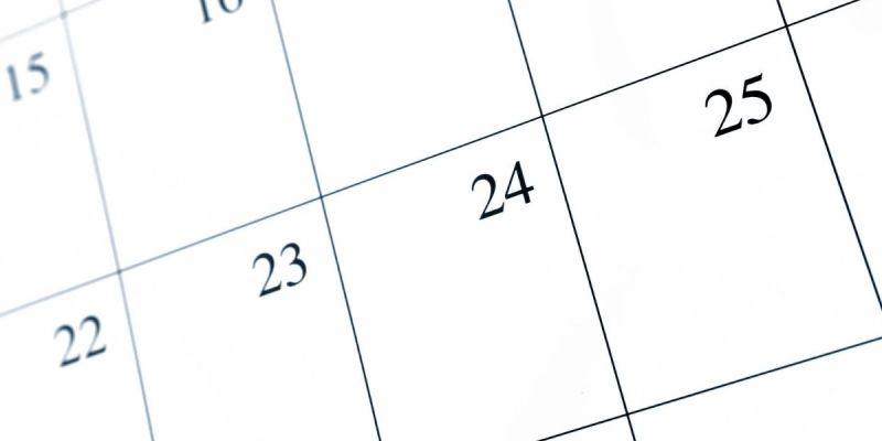 Photo of empty calendar