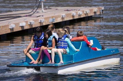 Peddle boats at Coulee Playland are a blast on Koulee Kids Day