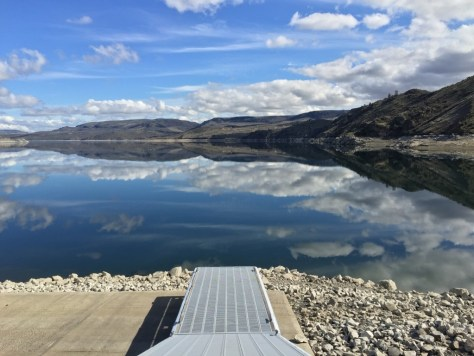 The boat launch at Crescent Bay on Lake Roosevelt is currently high and dry, but Spring Canyon and up to 11 of 22 launches in the Lake Roosevelt National Recreation Area still reach the water. Spring Canyon, the lowest reaching launch, goes down to elevation 1,222.