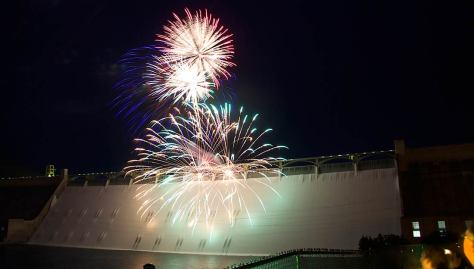 Fireworks on the dam
