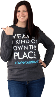 own your bank shirt image