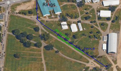 Grounds diagram for the 2017 GRCA Central Regional