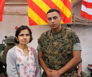 On the USS Arlington