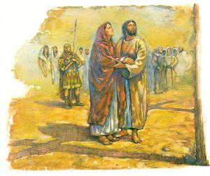 Mary with John at Golgotha