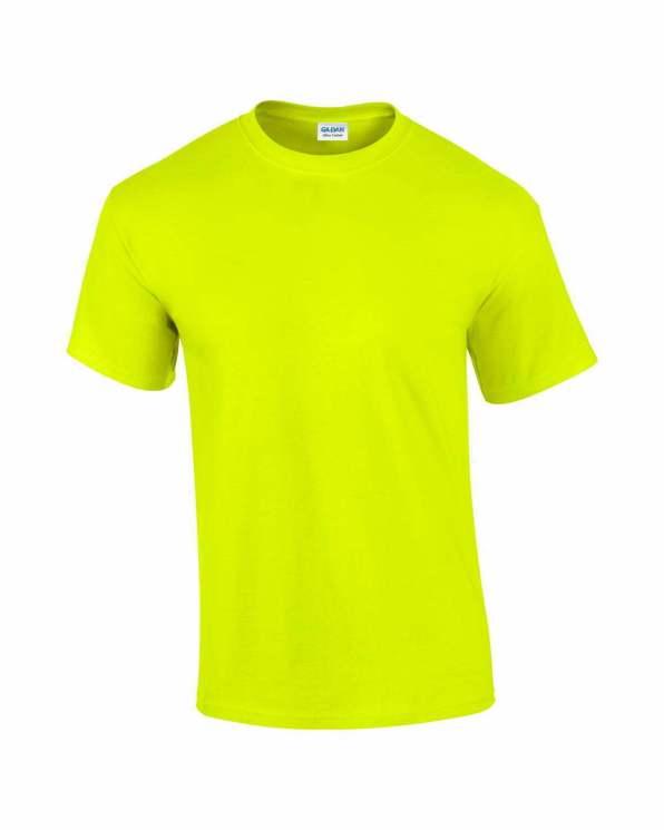 Mens T-Shirt Safety Green