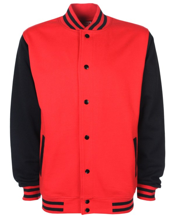 varsity jacket red/black