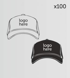 100 Caps printed