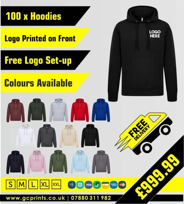 Printed Hoodies UK | Custom Printed Hoodies | Embroidered Hoodies UK