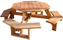 building plans octagon picnic table
