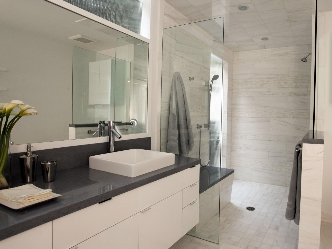 ванная комната с душевой кабиной в частном доме дизайн фото 6