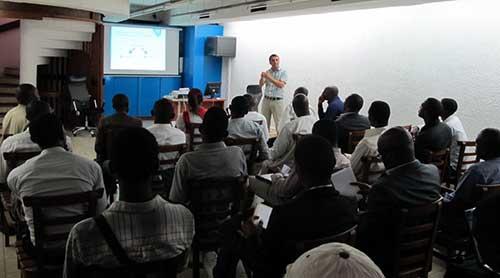 Rencontre à l'Institut franco-Camerounais, antenne de Douala