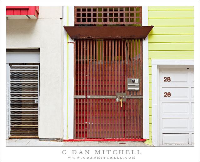 Gated Doorway Wall & G Dan Mitchell Photograph: Gated Doorway Wall - San Francisco ...