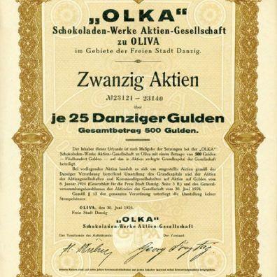 dokument akcyjny z 30 czerwca 1924