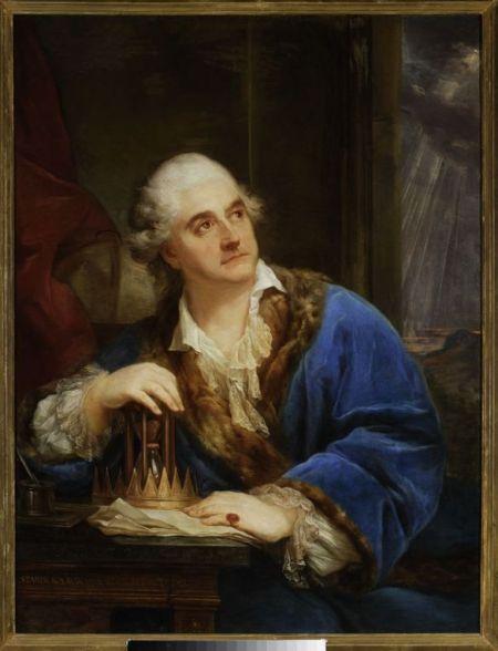 Marcello Bacciarelli Portret Stanisława Augusta z klepsydrą. (źródło: Muzeum Narodowe w Warszawie)