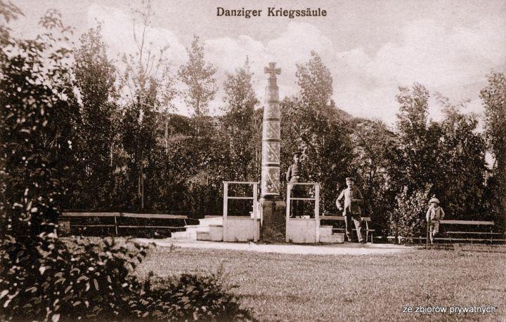 Kolumna Wojenna na Ruinie, czyli pozostałościach Bastionu św. Elżbiety (ze zbiorów Krzysztofa Gryndera).