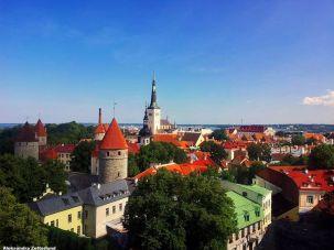 Sylwetka Tallinna ze Wzgórza Katedralnego - Toompea