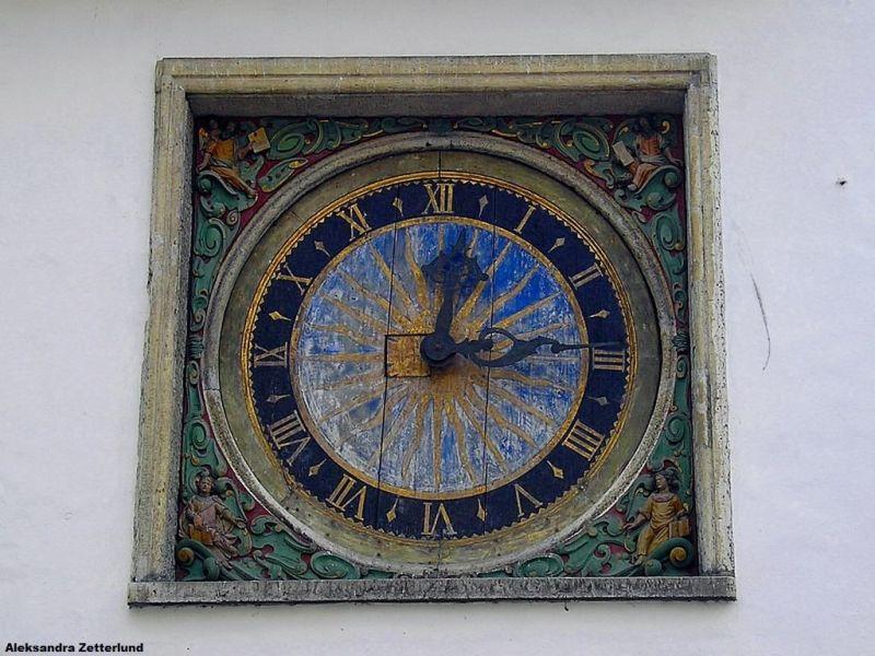 Zegar z kościoła św.Ducha, powstał w 1684 rioku