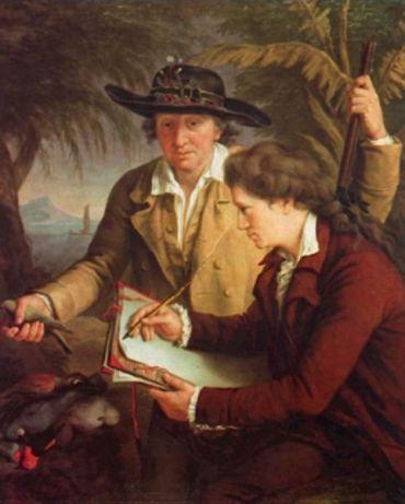 Johann Reinhold Forster i Georg Forster na obrazie Johna Francis Rigaud,1780