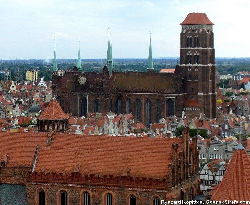 widok z kościoła św. Katarzyny, Muzeum Zegarów Wieżowych