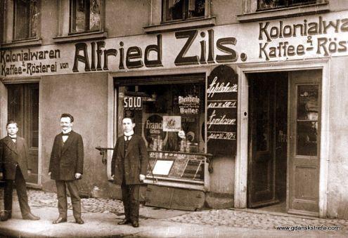 Sklep kolonialny Alfreda Zielsa przy ulicy Warzywniczej 19 (Petersiliengasse),