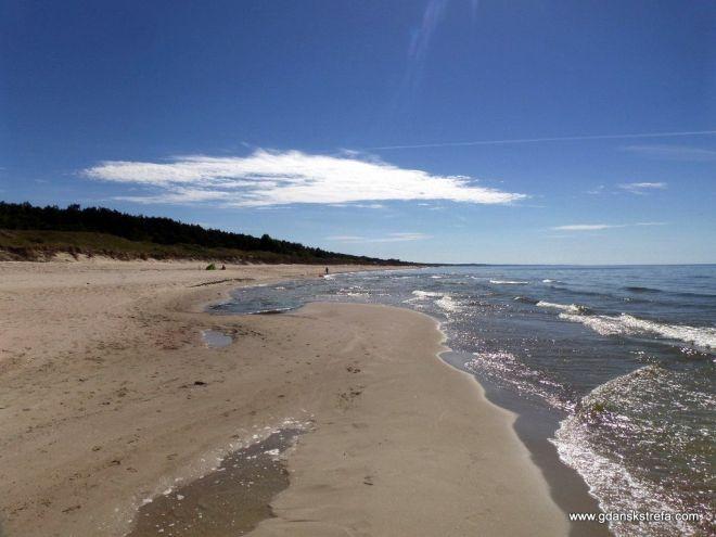 plaża na Mierzei Wiślanej