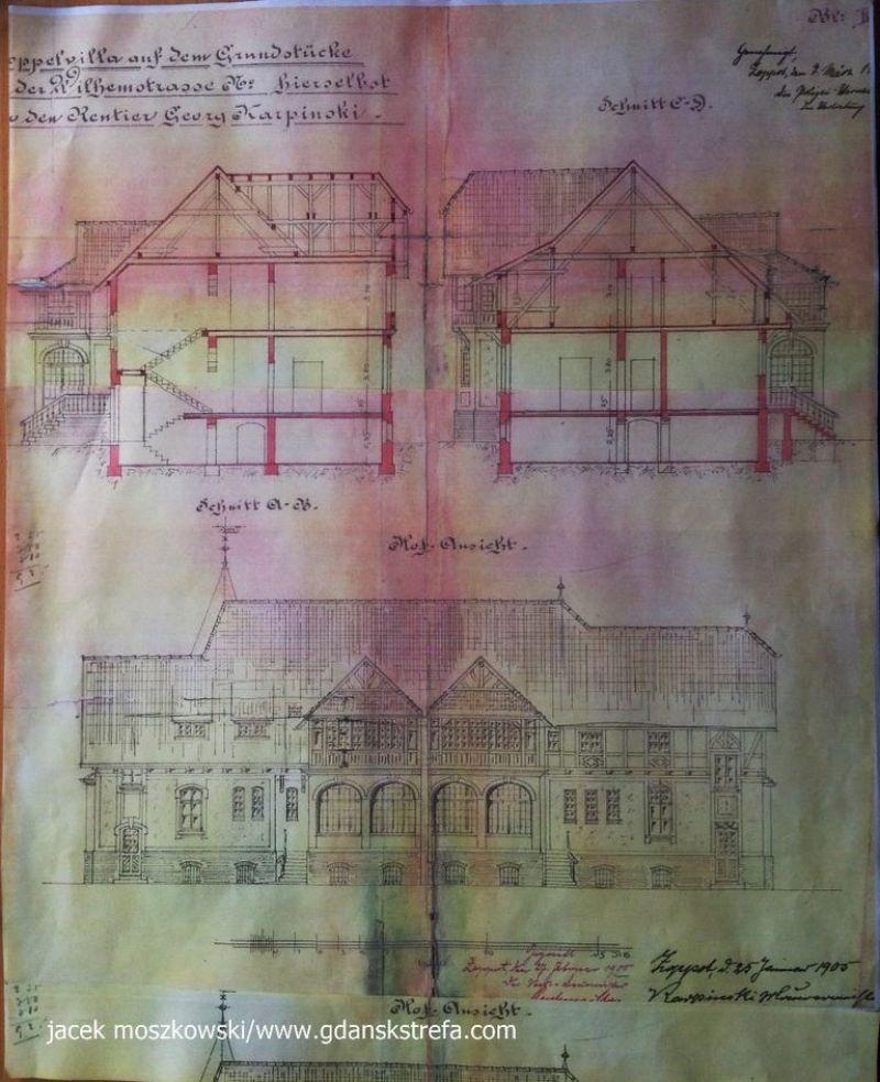 kopia dokumentacji z 1905 r.