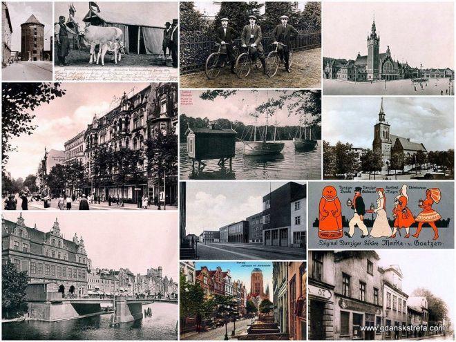 kolaż pocztówek