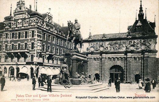 Pomnik Cesarza Wilhelma I nocą