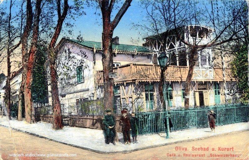 kawiarnia Schweizerhaus u zbiegu Czyżowskiego i Tatrzańskiej