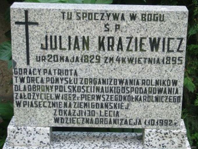 Grób J. Kraziewicza; źrodło: domena publiczna