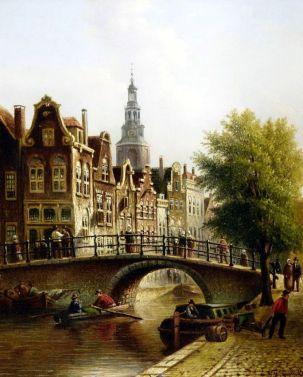 Widok na Amsterdam - Johannes Franciscus Spohler